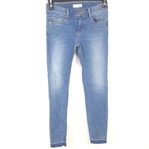 Loft Modern Skinny Stretch Raw Hem Denim Jeans